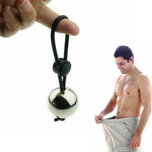 Metal Ball Heavy Weight Hanger Penis Ring for Men Stretcher Penis Extender Enlargement Cock Ring Male Chastity Device Sex Toys(China)