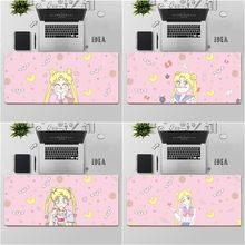 FHNBLJ Top Quality for girls cute pink anime moon girl Laptop Computer Mousepad Free Shipping Large Mouse Pad Keyboards Mat