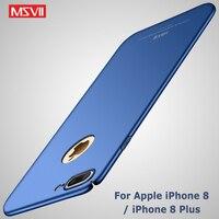 Capa de luxo msvii para iphone, capa fina para modelos iphone 7 plus, 8 plus, 8 plus