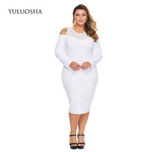 YULUOSHA Dress Mother of The Groom Elegant Mother of Bride Dress with Long Sleeves Appliques Lace Evening Gown with Sleeves cheap Tea-Length Sheath Full Mother of the Bride Dresses REGULAR Taffeta Illusion White Black 6 8 10 12 14 Sexy Wedding Formal Evening