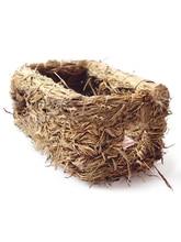 Small Pet Bed Straw Rabbit Grass Nest Handmade Woven Chinchillas Netherlands Pig Guinea House