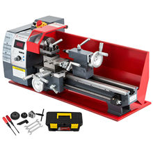 Free shiping 750W Metal Processing Lathe Variable Speed 210 * 400mm Professional Electronic Metal Lathe 50-2500rpm