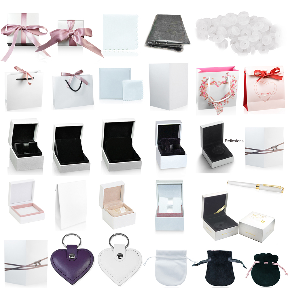 FAHMI High-quality Charm Ring Earrings Bracelet Necklace Jewelry Protection Box Guarantee Gift Bag Card Accessories Keychain Pen