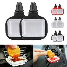 Novo universal vent no carro copo saucem dip clipe em-suporte de molho de carro para ketchup molhos mergulhando franquia