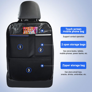 Image 3 - Pu Leer Auto Anti Kick Pad Auto Interieur Achterbank Protector Anti Kind Kick Pads Universal Waterdichte Anti Kick accessoires