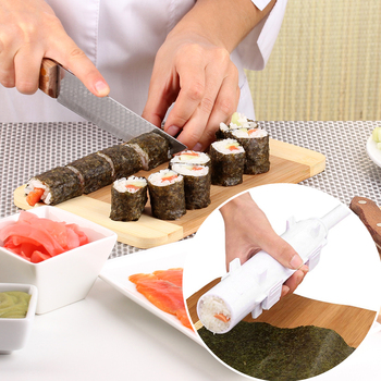 Sushi Maker Roller Rice Mold Sushi Bazooka Vegetable Meat Rolling Tool DIY Sushi Making Machine Kitchen Sushi Tool image