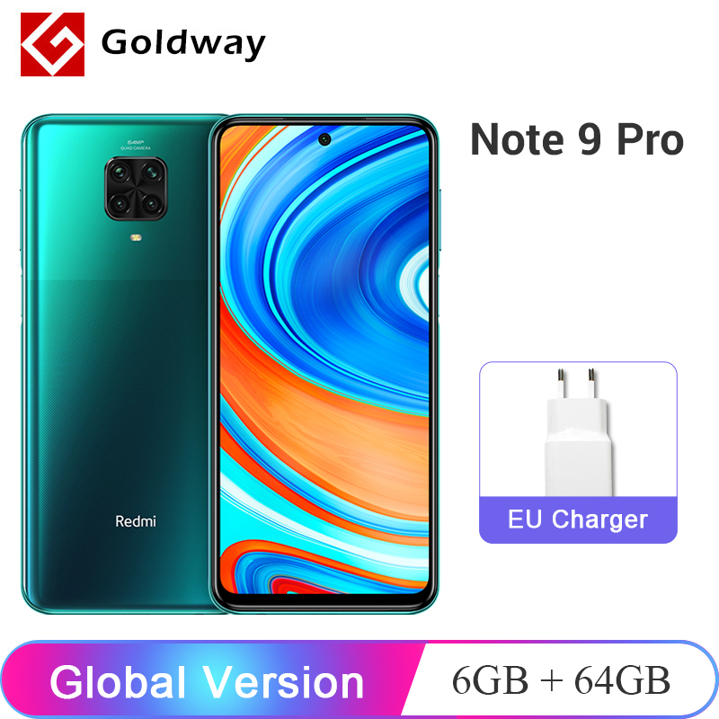 "Global Version Xiaomi Redmi Note 9 Pro 6GB 64GB / 128GB NFC Smartphone Snapdragon 720G Octa Core 64MP Quad Camera 6.67"" 5020mAh(Hong Kong,China)"