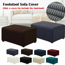 Pedal-Cover Ottoman Footstool Rectangle Stretch-Storage for Living-Room 8-Colors Elastic