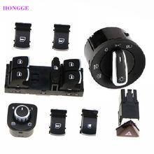 Hongge 8 шт chrome фара окно Предупреждение переключатель для