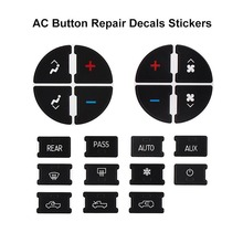AC Central Control Keys Sticker Car Button Decals