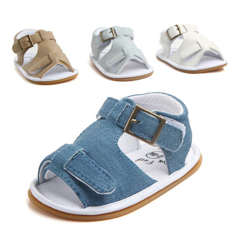 Summer Baby Infant Kids Girl Soft Sole Casual Crib Shoes Prewalker Sandals Shoes