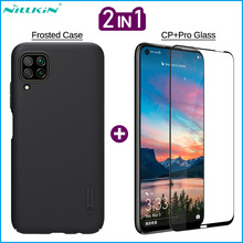 Nillkin 2-in-1 Phone Frosted Case + Screen Protector for Huawei Honor 20 V30 Pro P30 P40 Lite Mate 30 Full Cover Tempered Glass 2 in 1 full cover 9d tempered glass for huawei honor v30 v30 pro v20 screen protector