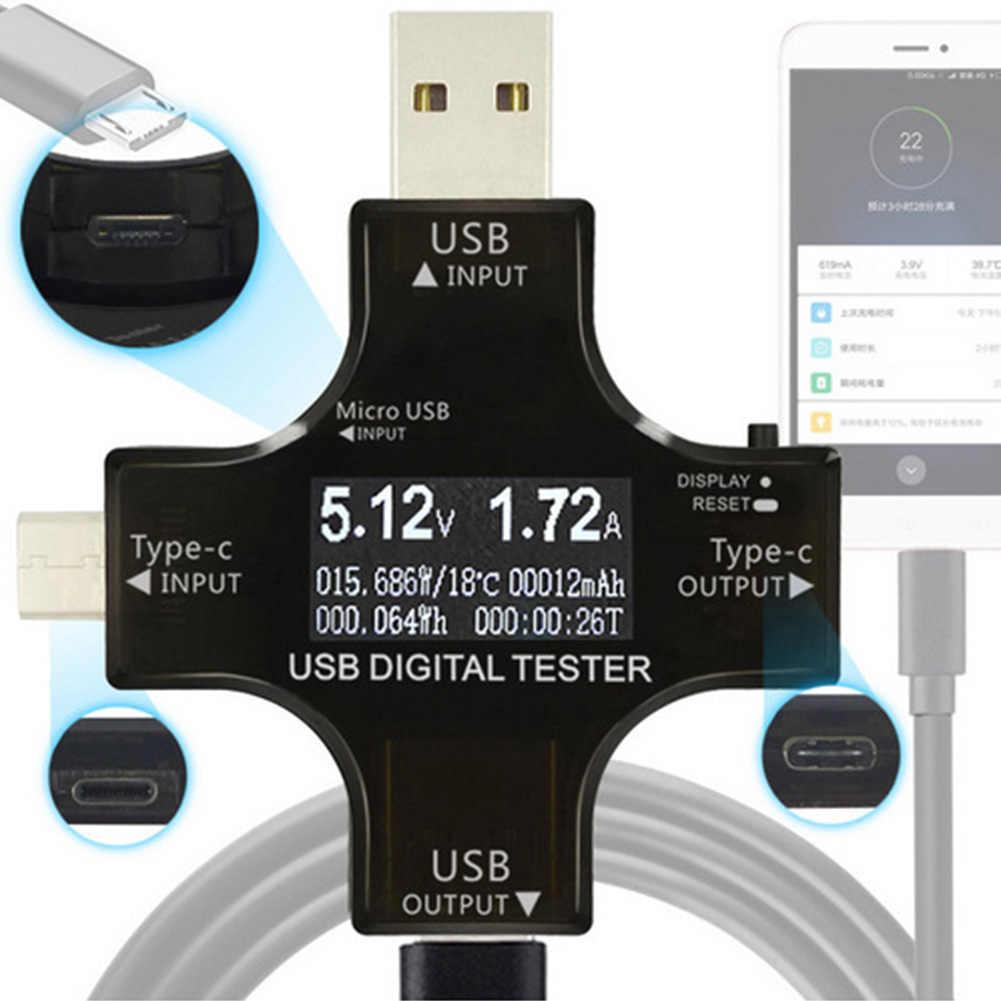 Цифровой тестеры ЖК-Вольтметр постоянного тока детектор мощности мультиметр USB Ампер измерение напряжения устройства тип-c Pd