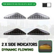 цена на Car LED Dynamic Side Marker Light Flowing Turn Signal Light Lamp For BMW X5 E70 2006-2013 for X6 E71 2007-2014 for X3 F25 2010+