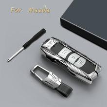 Couverture de boîtier de clé à distance de voiture en alliage de Zinc pour Mazda 2 3 6 Axela Atenza CX-5 CX5 CX-7 CX-9 2014-2017 accessoires de voiture clés