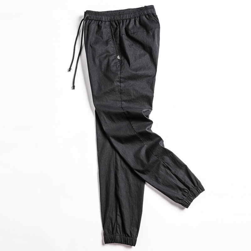 Japanese-style Men Capri Casual Pants Harajuku Street Snap Athletic Pants Hong Kong Style New Style Trousers Skinny Pants Fashio