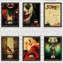 Ретро постер из крафт-бумаги, новейший фильм DC, Настенная Наклейка Джокер для всей семьи, украшение для кафе, бара, декоративный постер a53