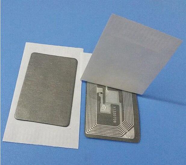 NFC-étiquette anti-métal s50 étiquette de paiement mobile   Étiquette IC anti-métal, étiquette nfc rfid 40*25mm