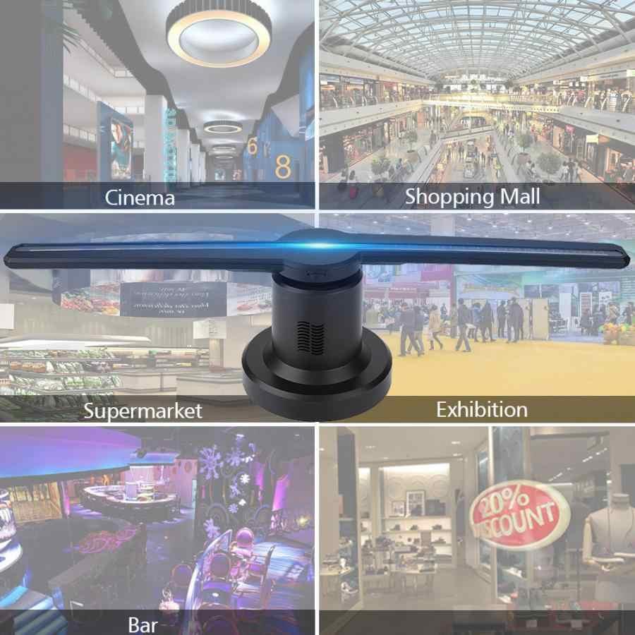 Pantalla proyector 3D ホログラフィック · ディスプレイ led ファン展示プロジェクターホログラム広告表示機能 + 16 グラム tf カード telon パラ