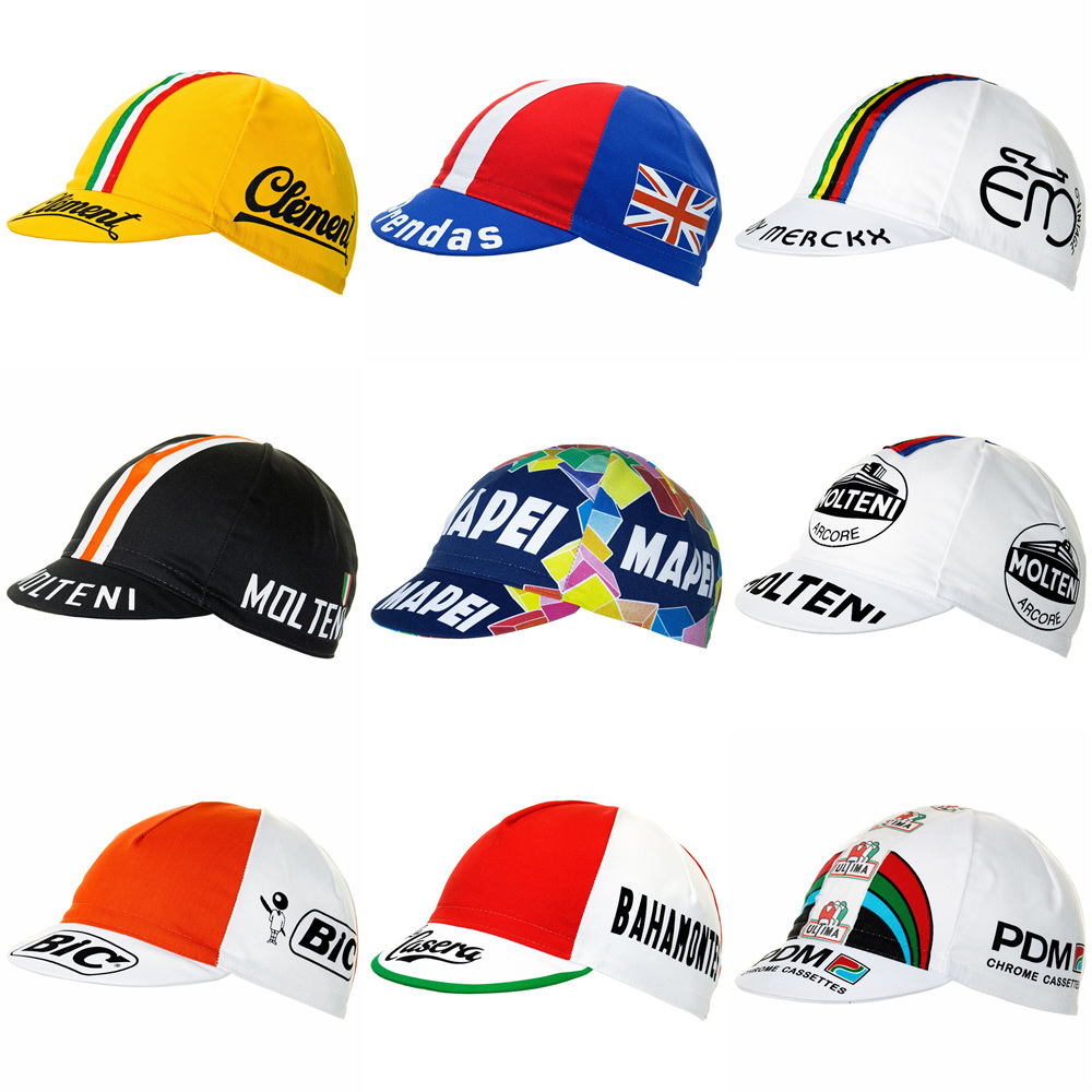 2019 Newest Molteni / Mapei / Peugeot Cycling Caps Men And Women Lightweight Breathable Bike Wear Cycling Headwear More Style