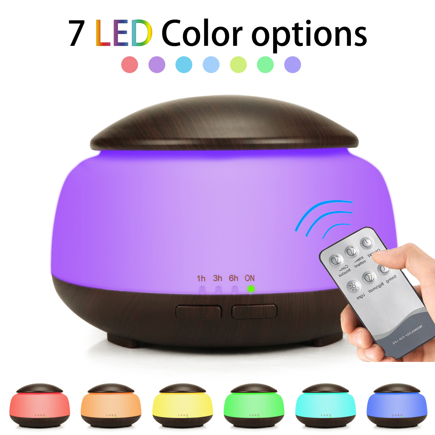 Non printed Wood Grain Air Humidifier Night Light Aroma Humidifier Ultrasonic Atomization Household Humidifier Gift in Humidifiers from Home Appliances