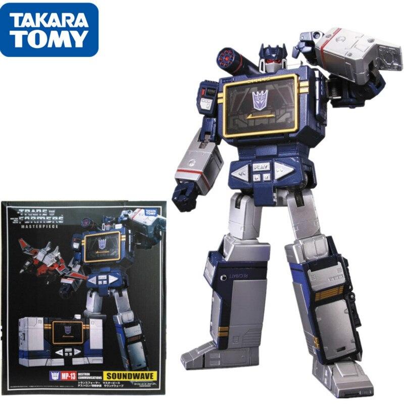 25cm MP-13 transformadores takara tomy na caixa obras-primas 28cm MP-13 soundwave figura modelo (japão importação) crianças brinquedos de presente