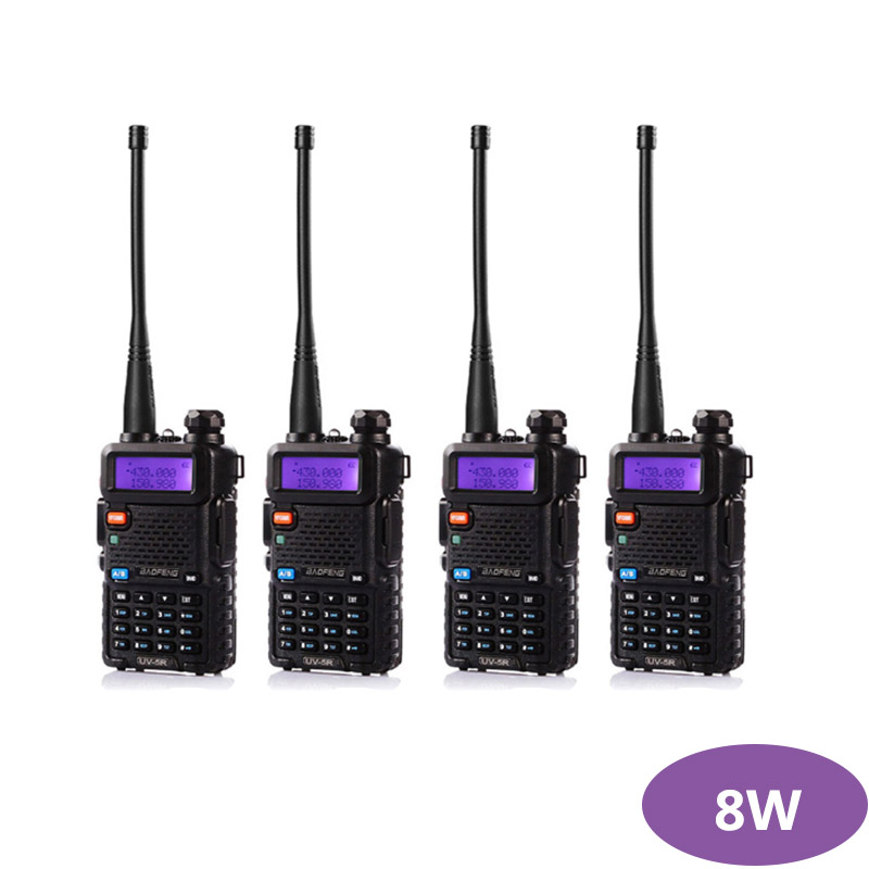 4PCS Baofeng UV-5R Portable Walkie Talkie Radio Station 128CH VHF UHF Dual Band UV5R Two Way Radio for Hunting Ham Radio CB image