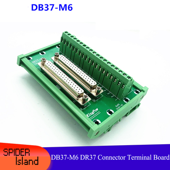 Dual DB37 Transfer Terminal DB37-M6 Double Female Converter Adapter DR37 Relay Terminal board