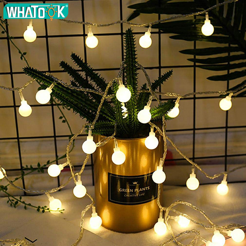 50M 100M Fairy LED Ball String Lights Wedding Garland Light Luces LED Decoracion Waterproof Christmas Tree Outdoor Indoor Garden