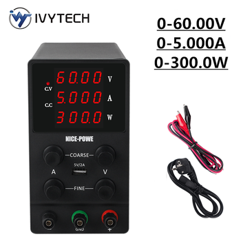 IVYTECH Adjustable Switching DC Lab Bench Power Supply LCD Screen 60V 5A 30V 10A Digital Regulated Modul Laboratory Power Source image