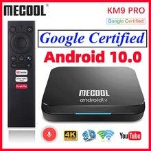 Mecool-tv box km9 pro, dispositivo com android 10, 2gb de ram, 16gb de rom, certificação google, android 9.0, 4k, km3, atv, 4gb de ram, 128gb de rom