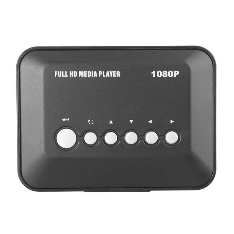 AABB-Mini Full HD 1080P Media Player with HDMI/VGA/AV/USB/SD/MMC/Optical Output EU Plug