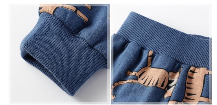 Little maven baby boy trousers children's knitted cotton stretch toddler boy animal dinosaur print pants 11031 5