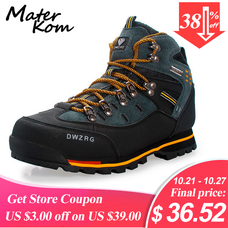 Outdoor Waterproof Hiking Shoes Men Professional Leather Shoes Climbing Trekking Tactical Boots For Men Hunting Botas Tacticas