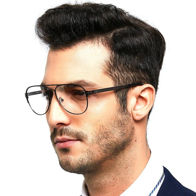 Evove black Eyeglasses Frame Men brand Vintage Glasses Male Prescriptin Spectacles for Myopia Diopter Optic Eyewear spring hinge