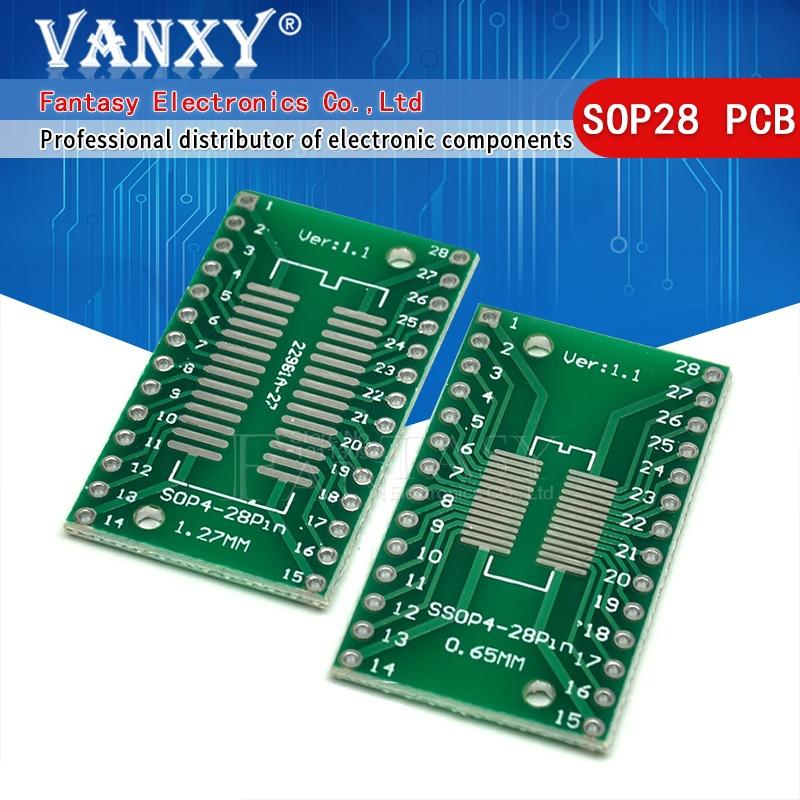 5 шт. TSSOP28 SSOP28 SOP28 to DIP28 плата для переноса DIP Pin плата шаг адаптер