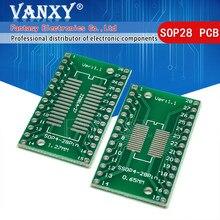 5 шт., переводная плата TSSOP28 SSOP28 SOP-28 SOP28 к DIP28
