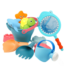 Childrens beach toys set baby play sand dredging tools bathing water shovel and bucket boys girls