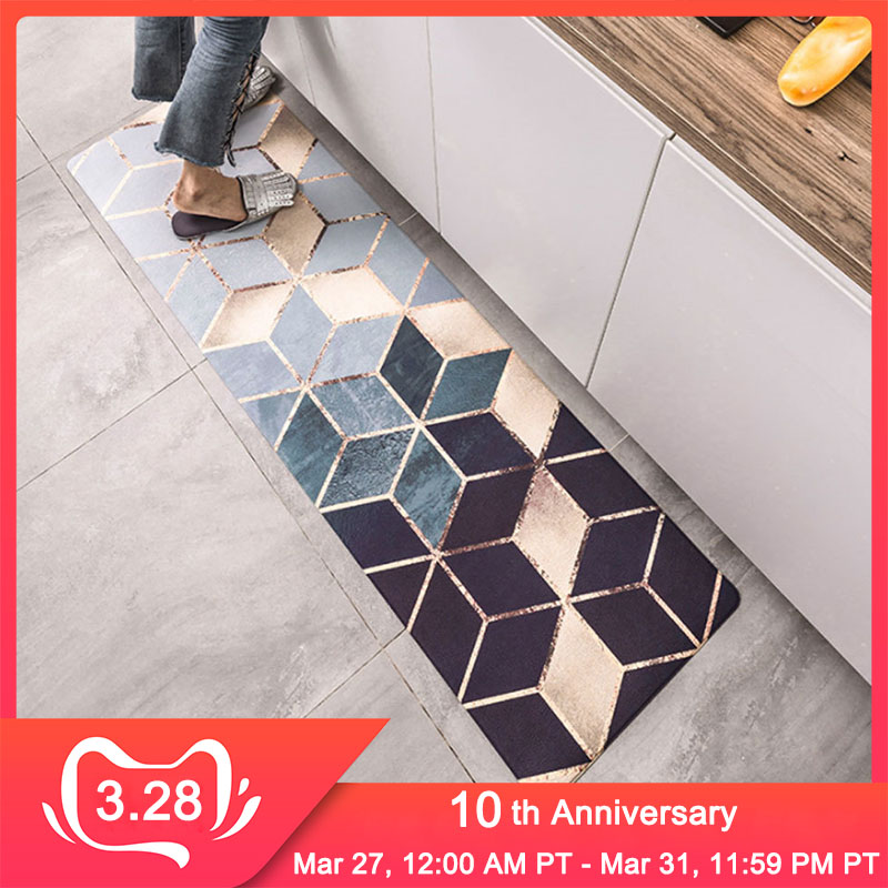 RFWCAK Kitchen Carpets PVC Leather Floor Mats Large Floor Carpets Doormats Bedroom Tatami Waterproof Oilproof Kitchen Rugs
