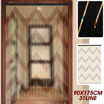 31 Line Wooden Bead Curtain 1