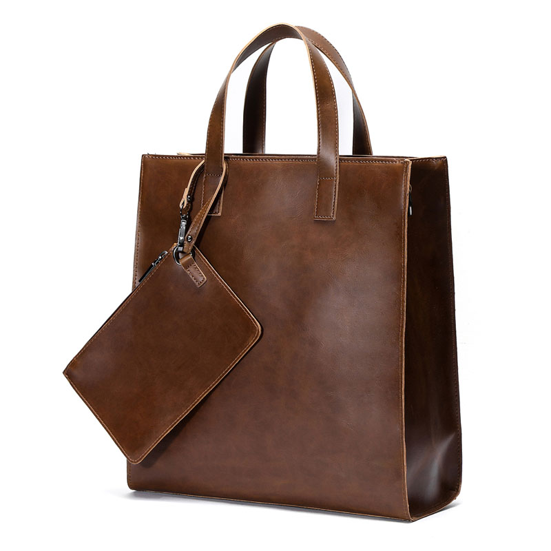 2019 Vintage Men's Briefcase Business Office Bags Crazy Horse Leather Handbag New Computer Laptop Bag Casual Maletin Mujer
