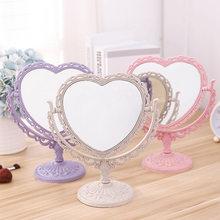 Espejo de maquillaje de escritorio de estilo nórdico, espejo gótico giratorio, herramienta de belleza para decoración del Mariposa o rosa, espejo de maquillaje con forma de corazón ovalado redondo