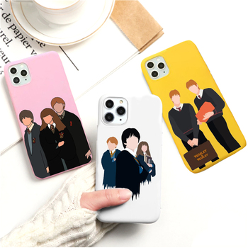 Weasley Twins Malfoy clear phone case For iPhone 11 12 Pro XS MAX XR X 7 8 6Plus SE 2020 Candy Soft Silicone Phone Cover image