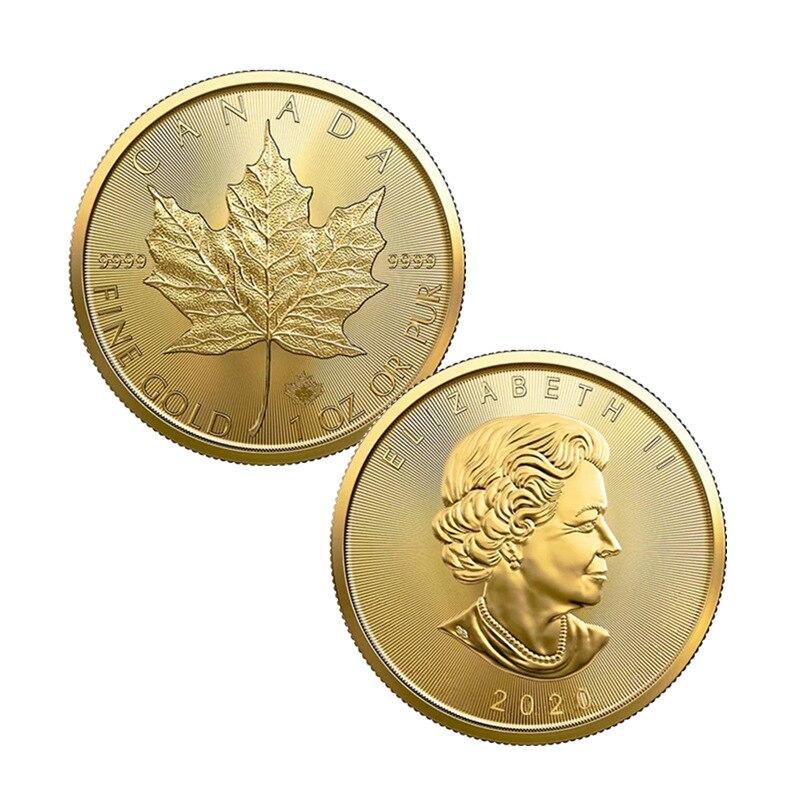 2020 Канада 20 долларов золотые монеты кленовый лист Содружественная королева монета памятные Коллекционные Подарочные Жетоны для оптовой пр...