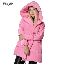 Winter Jackets Women 90% White Duck Down Parkas Loose Fit Pl