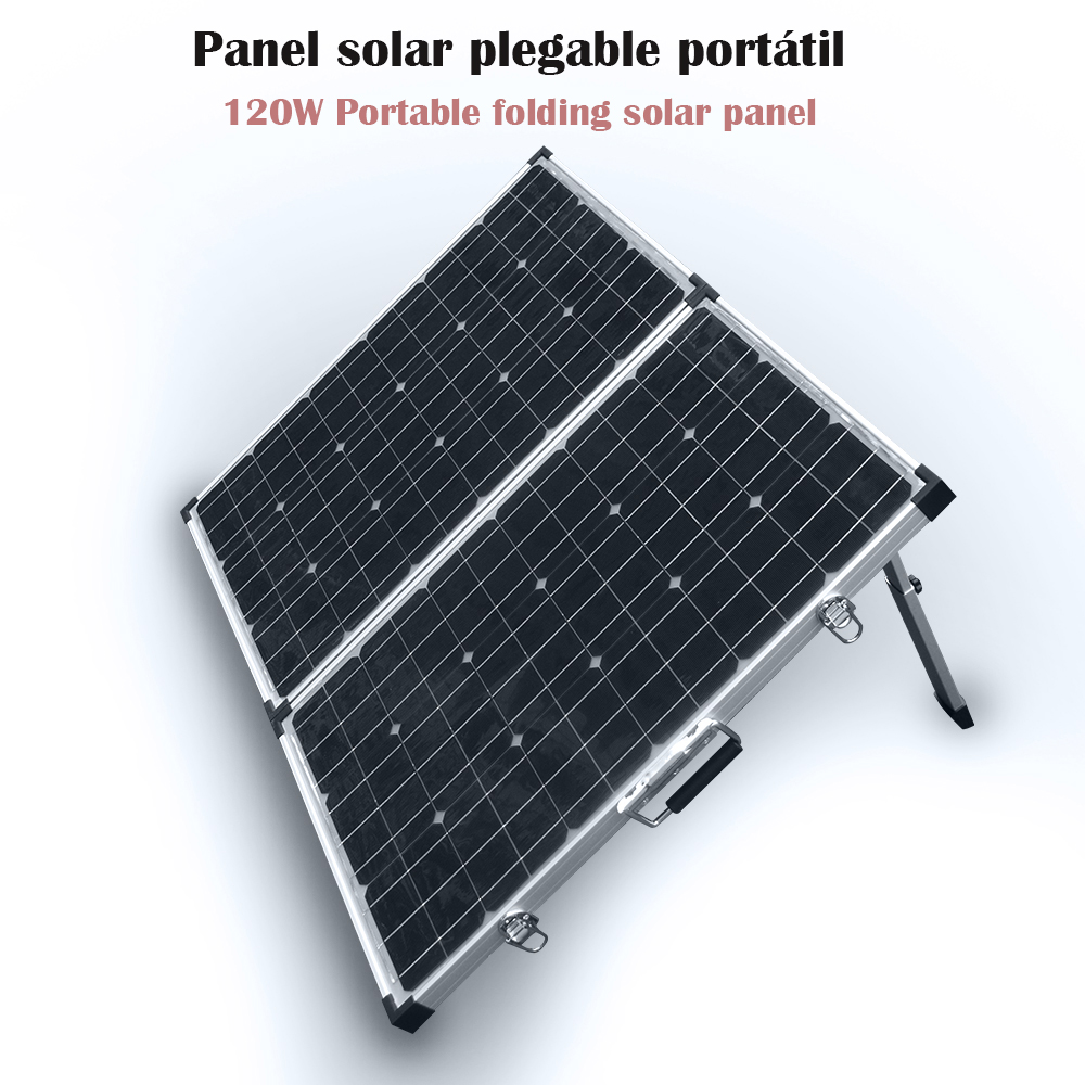 XINPUGUANG <font><b>solar</b></font> <font><b>panel</b></font> portatil Folding18v 120w fotovoltaico Kit with 12V 10A controller for car RV yacht camping image