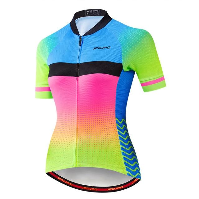 Weimostar pro equipe de ciclismo jérsei das mulheres verão mtb bicicleta camisa maillot ciclismo roupas secagem rápida 2