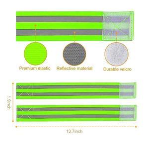 Image 4 - Светоотражающие ленты, эластичная повязка на руку, ремешок на лодыжке, ремни безопасности, отражатель, лента для ночного бега, ходьбы, езды на велосипеде
