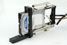"""3.5 """"do 5.25"""" calowy dysk twardy HDD Bulid w Bay Rack taca Caddy Carrier obudowa CD ROM wymiana w/ Key Lock i kabel"""