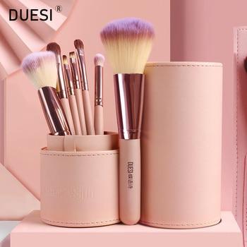 DUESI 7PCS/Barrel Makeup Brush Tools Set Foundation Blush Powder Blending Eyeshadow Eyebrow Make Up Brushes For Beauty Cosmetic 7pcs set makeup brushes set for cosmetic foundation powder foundation eyeshadow make up brush beauty tool